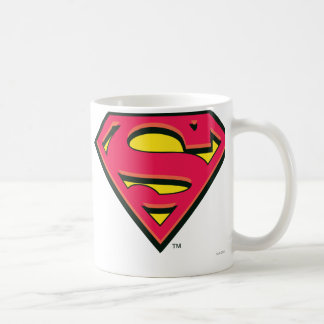Logotipo de la obra clásica del superhombre tazas de café
