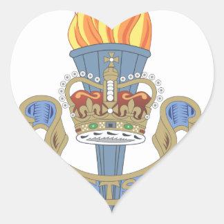 Logotipo de la organización del ETS Pegatina En Forma De Corazón