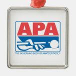 Logotipo de la original de APA Adorno Navideño Cuadrado De Metal
