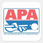 Logotipo de la original de APA Pegatina Cuadrada