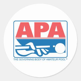 Logotipo de la original de APA Pegatina Redonda