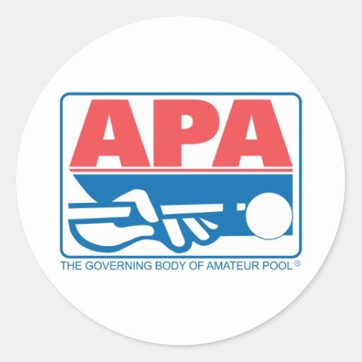 Logotipo de la original de APA Pegatinas Redondas