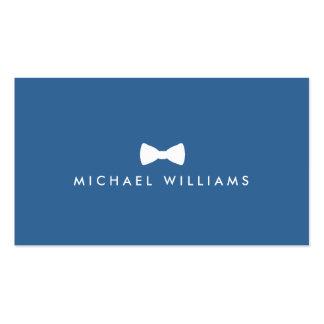 Logotipo de la pajarita de los hombres refinados tarjetas de visita