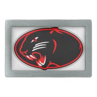 Logotipo de la pantera hebillas de cinturón rectangulares