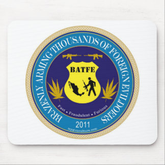 Logotipo de la parodia del ATF/de BATFE Tapetes De Raton