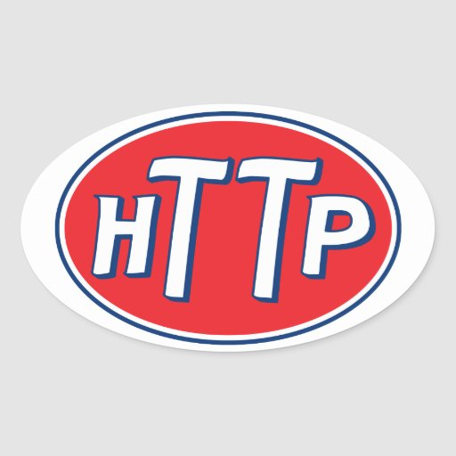 Logotipo de la parodia del Webmaster del HTTP Pegatina Ovalada
