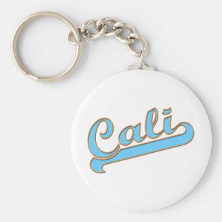 Logotipo de la persona que practica surf de Cali C Llavero Redondo Tipo Pin