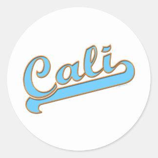 Logotipo de la persona que practica surf de Cali C Etiqueta Redonda