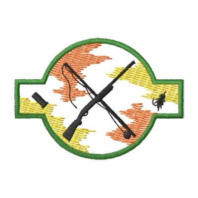 Logotipo de la pesca de la caza