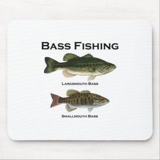 Logotipo de la pesca de la lubina bocazas - small tapete de ratón