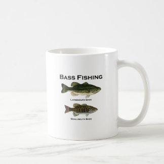 Logotipo de la pesca de la lubina (bocazas - small tazas de café