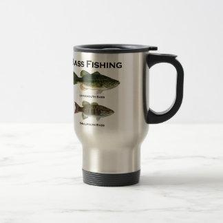 Logotipo de la pesca de la lubina bocazas - small taza de café