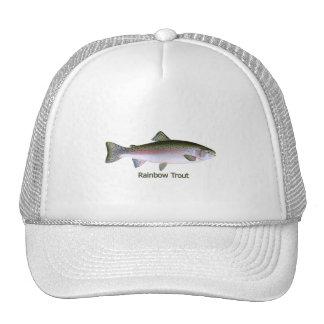 Logotipo de la pesca de la trucha arco iris gorro de camionero