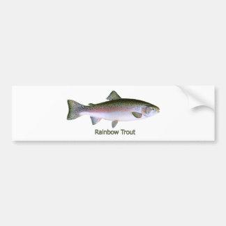 Logotipo de la pesca de la trucha arco iris pegatina para auto