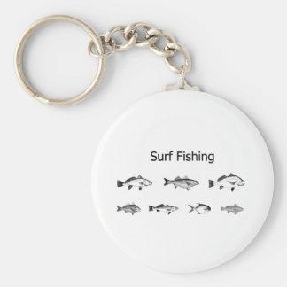 Logotipo de la pesca de resaca llavero