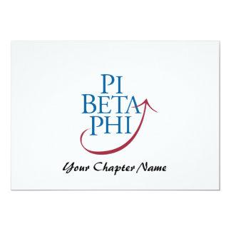"""Logotipo de la phi del pi invitación 5"""" x 7"""""""