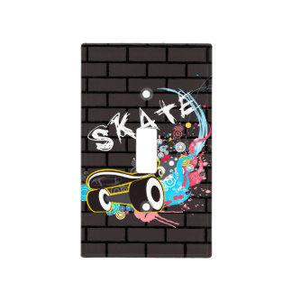 Logotipo de la pintada del patín de la pared de cubierta para interruptor