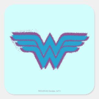 Logotipo de la pintura de aerosol de la Mujer Mara Pegatina Cuadradas Personalizada