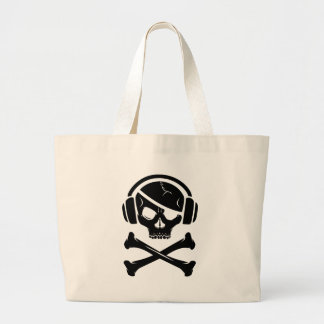Logotipo de la piratería anti-RIAA del pirata de l Bolsa De Mano