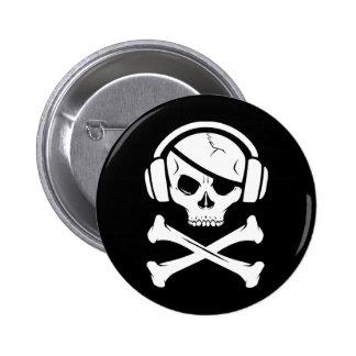 Logotipo de la piratería anti-RIAA del pirata de l Pin