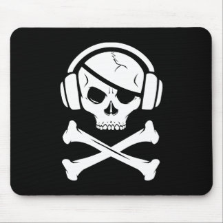 Logotipo de la piratería anti-RIAA del pirata de l Tapetes De Ratón