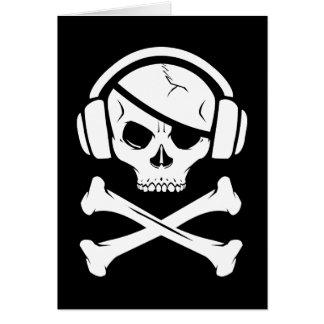 Logotipo de la piratería anti-RIAA del pirata de l Tarjetas