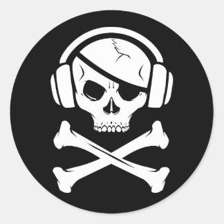 Logotipo de la piratería anti-RIAA del pirata de Etiqueta Redonda