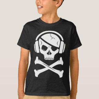 Logotipo de la piratería anti-RIAA del pirata de Playera