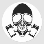 logotipo de la plantilla de la careta antigás pegatina redonda