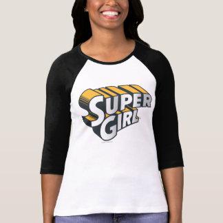 Logotipo de la plata y del naranja de Supergirl Camisetas