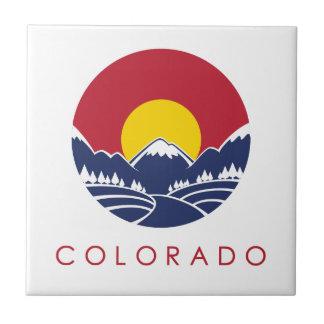 Logotipo de la puesta del sol de Colorado de la mo Azulejos