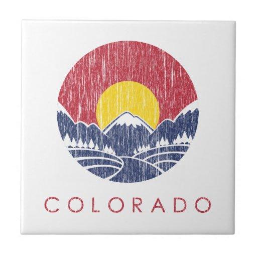 Logotipo de la puesta del sol de Colorado de la mo Tejas Cerámicas