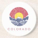 Logotipo de la puesta del sol de Colorado de la mo Posavasos Manualidades