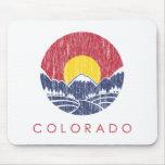 Logotipo de la puesta del sol de Colorado de la mo Tapetes De Ratón