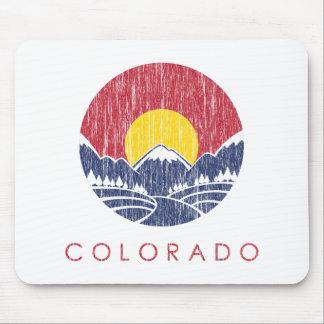 Logotipo de la puesta del sol de Colorado de la Tapete De Ratón
