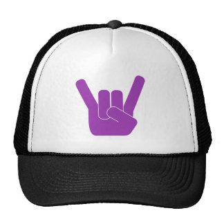 Logotipo de la púrpura de la muestra de la roca gorros bordados