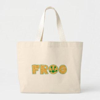 Logotipo de la rana del dibujo animado bolsas