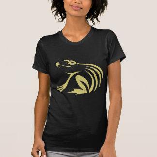 Logotipo de la rana verde camisetas