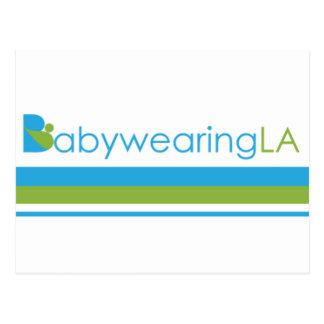 Logotipo de la raya de BabywearingLA Tarjetas Postales