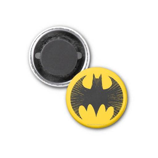 Logotipo de la raya de Batman Imanes Para Frigoríficos