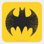Logotipo de la raya de Batman Pegatina Cuadradas Personalizada
