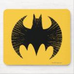 Logotipo de la raya de Batman Tapetes De Ratón