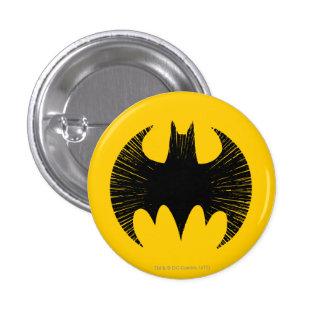 Logotipo de la raya del símbolo el | de Batman Pin Redondo De 1 Pulgada