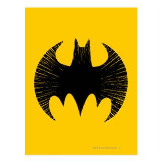 Logotipo de la raya del símbolo el | de Batman Postal