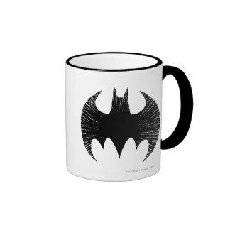 Logotipo de la raya del símbolo el | de Batman Taza De Dos Colores