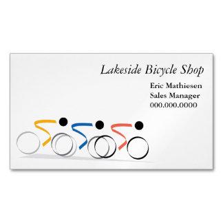 Logotipo de la raza de bicicleta tarjetas de visita magnéticas (paquete de 25)