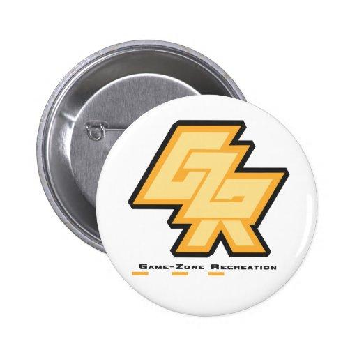 Logotipo de la reconstrucción de la Juego-Zona Pin Redondo 5 Cm
