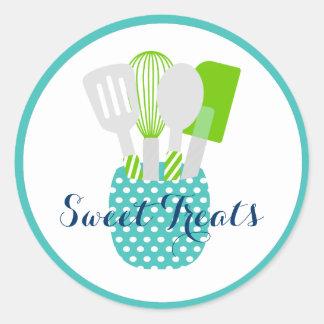 Logotipo de la repostería y pastelería del etiqueta redonda