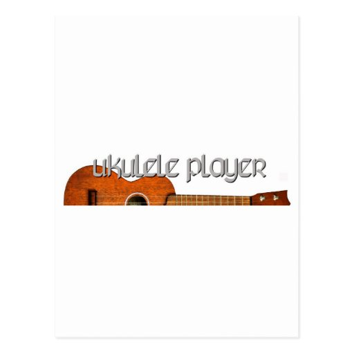 Logotipo de la revista del jugador del Ukulele Postales