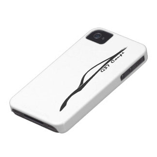 Logotipo de la silueta del negro del cupé G37 iPhone 4 Case-Mate Fundas
